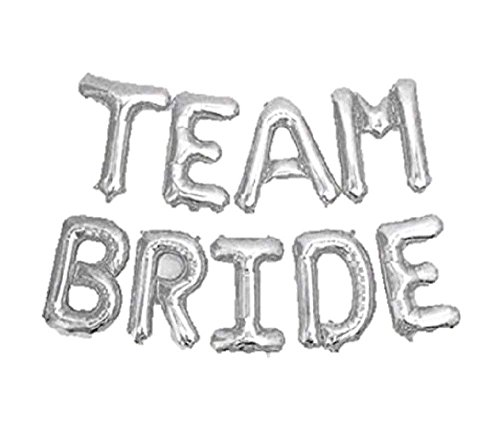 DIY Folie Brief Ballons Team Braut Party Decor Für Bachelorette Hochzeit Hen Party Dekoration (Silber) ()