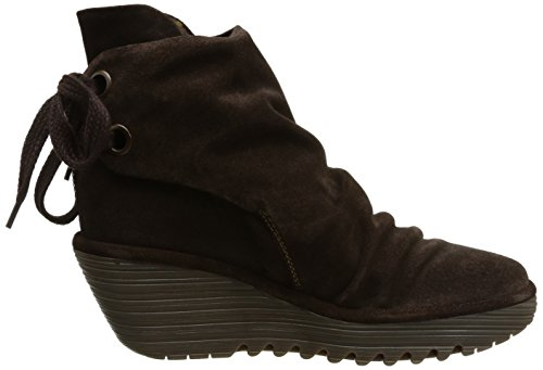 Fly London Yama Oil Suede Damen Stiefel Braun (Espresso)