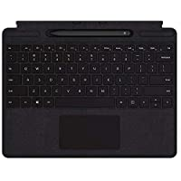Microsoft Surface Accessories QSW-00014 Microsoft Surface Pro X Signature Type Cover [wrapped in Alcantara] with Slim Pen, Eng-Arb Keyboard, Black