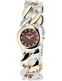 Reloj analógico Timento, de metal, diámetro de 27 mm, rojo bicolour - 510015000015