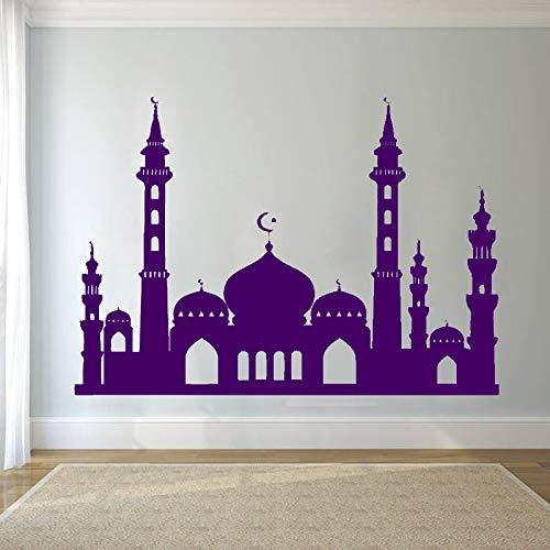 xingbuxin Wandaufkleber Vinyl Wandtattoo Musselin Islam Religion Tapete Eid Murabak Dekoration Zubehör Muslimischen Poster 5 80x57 cm