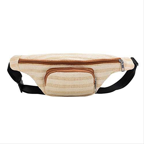 RERU Hüfttasche Frauen Sommer Strand Stroh Weben Taille Taschen Mode Stil Brust Gürtel Tasche Boho Fanny Packs R 4 (Nike Gürtel Wasser)