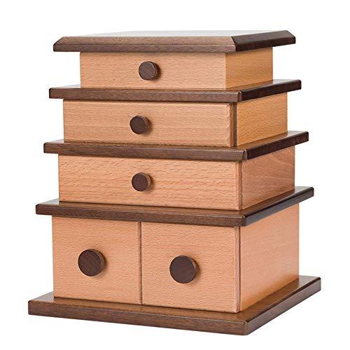 Schmuckschatulle massivholz schmuckschatullen hohe kapazität hand schmuck uhr halskette aufbewahrungsbox retro - Schlafzimmer Sammlung Massivholz Kommode