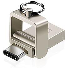 UGREEN Memoria USB Tipo C e USB 3.0, Pen Drive USB OTG, Memoria Flash USB Chiave per Samsung Note8/S8/S8+, Huawei Mate 10/P10/P9, Oneplus 5T, Nexus 5X, LG V30/G6, Macbook Pro, Chromebook Pixel.(32GB)