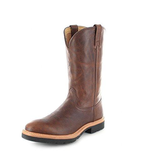 Twisted X Boots 1736 Cowboy Work Pull ON Brown Lederstiefel für Damen Braun Westernreitstiefel, Groesse:39 (8 US) (Cowboy-stiefel Für Frauen Größe 8)