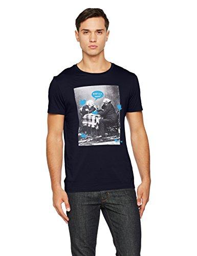 BOSS Herren T-Shirt Totally 1 10139980 Blau (Dark Blue 405), Large