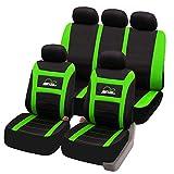 eSituro universal Sitzbezüge für Auto Schonbezug Komplettset schwarz/grün SCSC0093