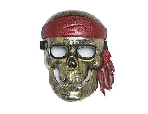 Shenky - Masques de carnaval/pour halloween - style Anonymous/V pour Vendetta Pirate - Couleur Bronze