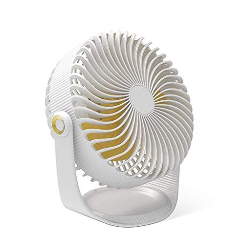 SCDFS Ventilador de Mesa pequeño para Oficina, Ventilador de pie silencioso, Mini Ventilador USB, Rosa...