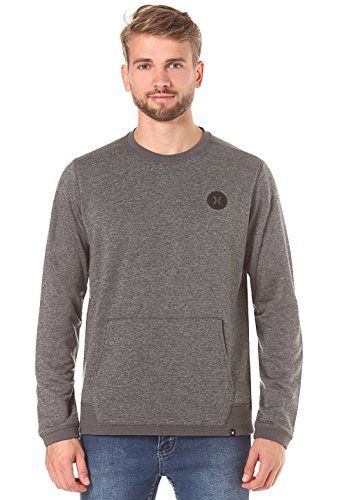 Hurley Dri-Fit Disperse Crew, Color: Charcoal Heather, Size: XL