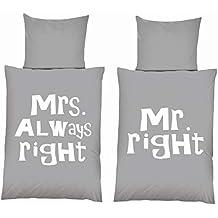 Suchergebnis Auf Amazonde Für Mr Right Mrs Always Right Bettwäsche