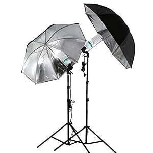 SHOPEE Portable Studio Flashlight with Umbrella and Flash Light Stand Combo