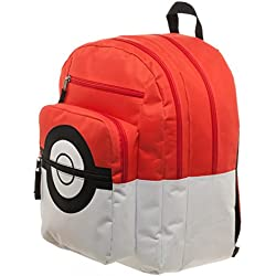 Bioworld Pokémon pokeball mochila con bolsa de entrenador encanto
