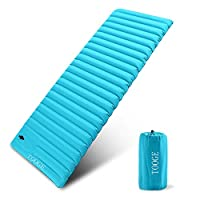 TOOGE Inflatable Sleeping Mat, Camping Mattress Single Waterproof Compact 9cm Ultra Thick (L)