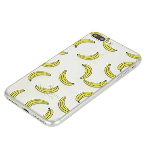 Voguecase® Per Apple iPhone 7 Plus 5.5, Custodia Silicone Morbido Flessibile TPU Custodia Case Cover Protettivo Skin Caso (unicorno 02) Con Stilo Penna banane 02