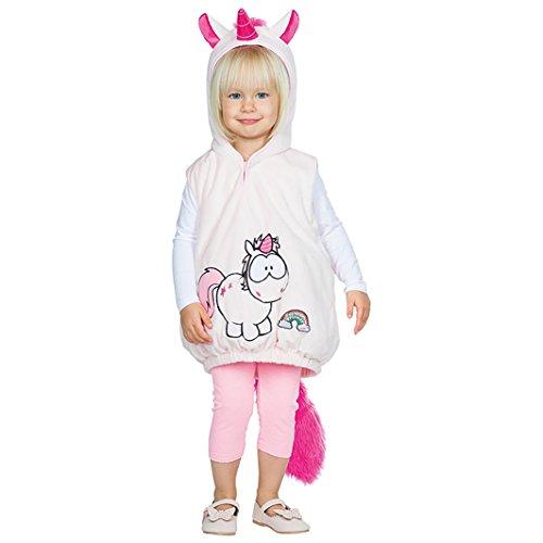 Rubie's Babykostüm Einhorn Hoodie Pullover mit Kapuze Kleinkind-Kostüm Gr. 92/98 Mädchen (Kostüm Einhorn Kleinkind)