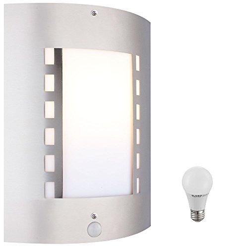 7 Watt LED Außen Wand Leuchte Fassaden Beleuchtung Bewegungsmelder Garten Lampe