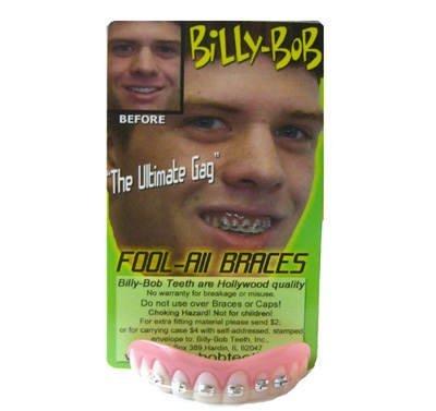 Billy Bob Fake Halloween Zähne–Fool alle mit Hosenträger