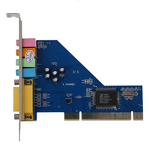 SODIAL (R) 4-Kanal C-Media 8738 Chip 3D-Audio Stereo Interne PCI-Soundkarte Win7 64 Bit