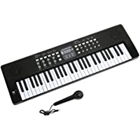 AXMAN LP5450 Keyboard inkl. Mikrofon und Netzteilanschluß, 54 Tasten, batteriebetrieben 6 x AA (nicht im Lieferumfang enthalten)