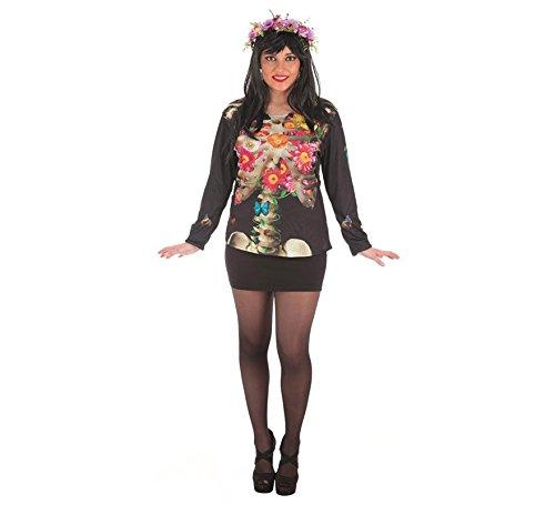 Llopis - Disfraz adulto camiseta catrina