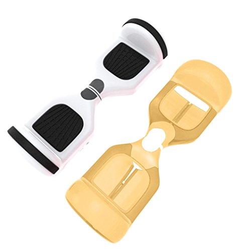 Creme-kamera-tasche (sunnymi Smart Balancing Scooter Schutzhülle Hoverboard Balance Auto Reißverschluss tragbare ,Silikon Tasche für 6,5 Zoll 2 Räder (KAUTSCHUK, Gold))