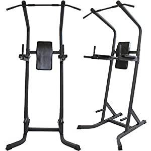 GYM MASTER Power Tower, Press Up, Pull Up & Dip Station Home Multi Gym. Made From Reinforced Steel.