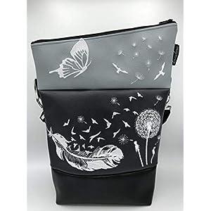 Handtasche Feder Pusteblume Tasche Foldover Schultertasche
