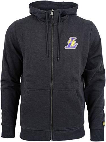 New Era Los Angeles Lakers Team Apparel Full-Zip NBA Hoodie Dunkelgrau, M - Los Angeles Lakers Team Fleece