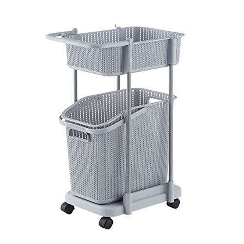 DONGBALA Einfacher Mehrschichtiger Warenkorb des Speicherkorbes Kreatives Spielzeug Kleidet Unterwäscheküche-Badezimmer-Toilettenartikel-Speicherkorb,Gray