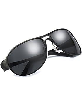 Gafas de Sol Aviador Hombre Polarizadas Clásico Al-Mg Aleación 100% UVA & UVB Protección de Conducción Pesca