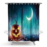 Bishilin 3D Anti-Schimmel Duschvorhang 150x180 Halloween Badvorhang Anti-Schimmel