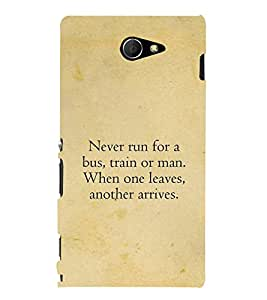 PrintVisa Designer Back Case Cover for Sony Xperia M2 Dual :: Sony Xperia M2 Dual D2302 (Beautiful life quatation :: Simple quote design :: Quotes about life :: Nice quatation wallpaper :: Good life quotes to live)