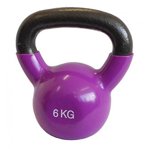 LiveUP Sports - Vinil Kettlebell 6 kg pvc, Iron Ferro Vinile Pesi Allenamento Fitness Cross Training...