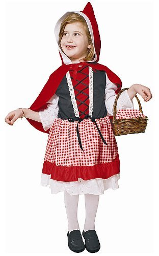Red Lil Kostüm - Dress up America Lil' Red Riding Hood Costume Set (L) by Dress up America