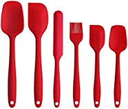 Silicone Spatula set 6pcs - Seamless Rubber Spatulas 500°F Heat Resistant with Stainless Steel Core, Kitchen U