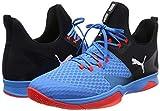 Puma Rise XT 3 Indoor Teamsport Schuhe Bleu Azur-Red Blast-Black 6.5 - 5
