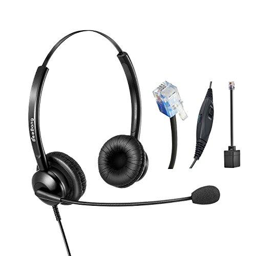 Auriculares telefónicos Binaural RJ9 Call Center
