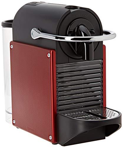 DeLonghi Nespresso EN 125.R Kapselmaschine Pixie Electric | 1260 Watt | 0,7 Liter | Flexible Tassen-Abstellfläche | rot