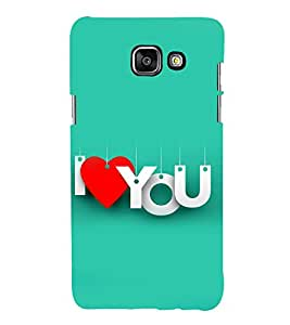 printtech I Love You Quote Back Case Cover for Samsung Galaxy A3 (2016)