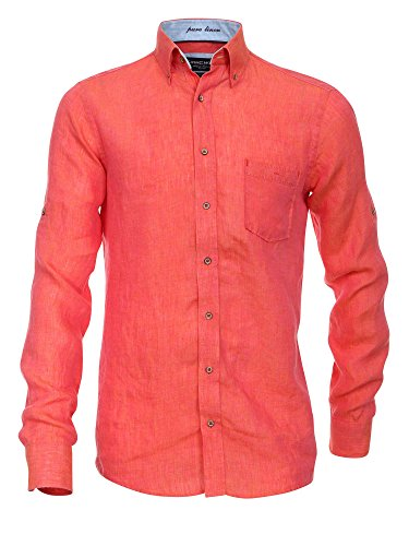 CASAMODA Herren Businesshemd 441925000 Casual Fit bügelleicht Orange