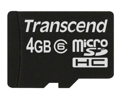 Transcend Micro SDHC 4GB Class 6 Speicherkarte