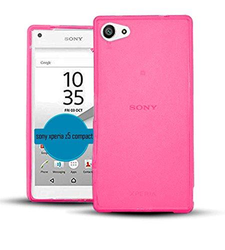 TBOC® Rosa Gel TPU Hülle für Sony Xperia Z5 Compact (Mini) E5803 E5823 Ultradünn Flexibel Silikonhülle