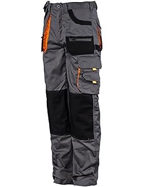 [Patrocinado]Des-Emerton® - Pantalones de trabajo para hombre - Gris / negro / naranja
