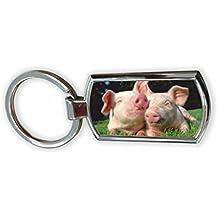 Pig llavero de cromo en caja de presentación imagen # 7 (par ...