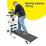 Laufbänder Faltende Maschine Tilt Fitness Multi-Funktions-Gewichtsverlust Aerobic Walking (Color : Black, Size : 115x52x110cm) - 5