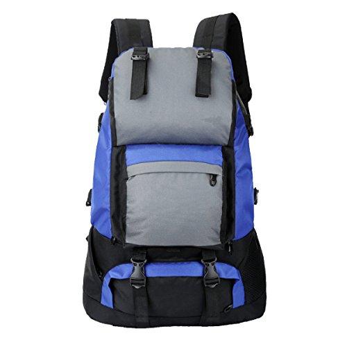 Yy.f50 Liter Outdoor-Sport Wandern Klettern Camping Rucksack Professionelle Bergsteigen Taschen Zu Fuß Einen Großen Rucksack Unterwegs. Multicolor Blue