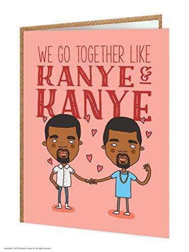 Brainbox Candy Funny Humorous Kanye And Kanye Birthday Greetings Card