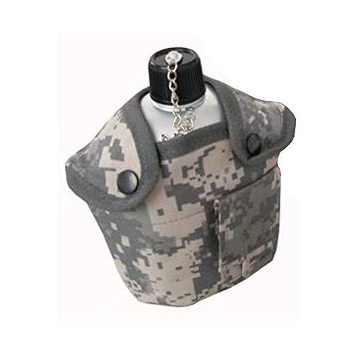 noviano BTS US Army Style Outdoor Alu Feldflasche mit Trinkbecher 1ltr at-digital Tarn Überzug