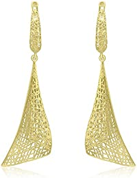 Carissima Gold 9 ct Yellow Gold Woven Cone Drop Earrings